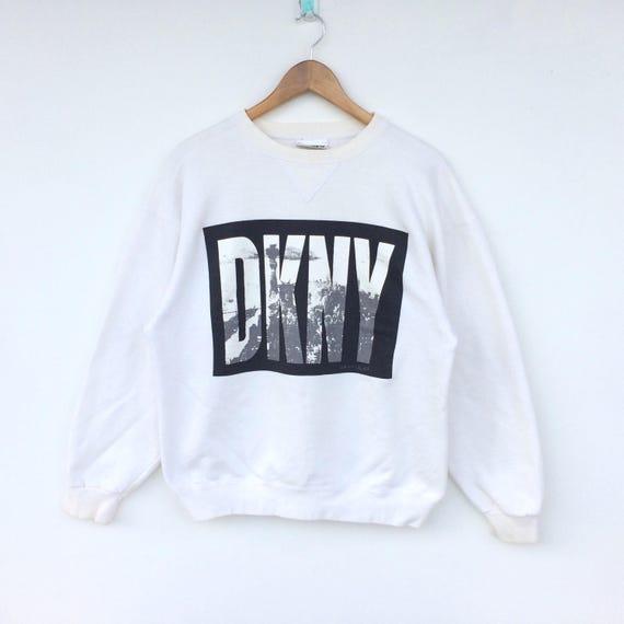 Vintage DKNY Big Logo Sweatshirt / Donna Karan New York Shirt / Dkny Hoodie / Dkny Jacket / Hip Hop / Rap 9FlK15Fc