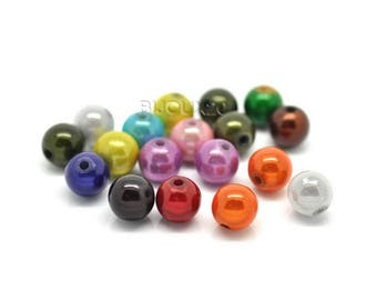 50 beads 10mm magical acrylic miracle Mix Lot M02212
