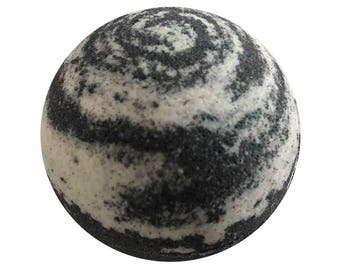 Stormy Night Bath Bomb, Bath Fizzy, Handmade Spa Product, Epsom Salts, Hydrating Coconut Oil, Sensitive Skin, Great Gift for Her