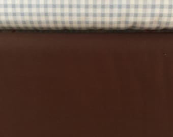 1 Yard Solid Brown quilting Fabric / Premium Cotton Apparel  Quilting Fabric