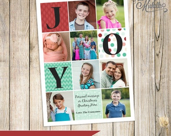 Personalized Holiday Photo Cards, Joy Christmas Greetings