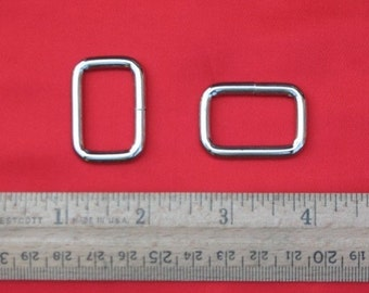 1 inch / 26mm Wire-Formed Nickel or Antique Brass Finish Rectangle Rings - Choose from 230, 600, and 1500 pieces