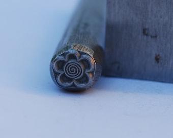 Flower  Metal Design Stamp-Metal Stamp LARGE-Exclusive To Me-New 3/8 in.-Metal Stamping Tool-Perfect for Metal Stamping and Metal Work