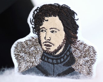 Jon Snow Patch - Iron On - Embroidered Patch