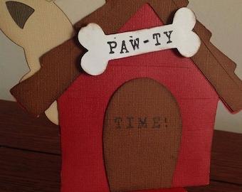 Dog-Dog House Party Invitation-Puppy Party Invitation