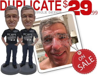 Duplicate Custom Bobblehead and Personalized Bobbehead Bobble Head Gifts Groomsman Bobblehead and Bridesmaid Bobblehead Custom Cake Toppers
