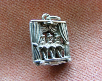 B) Vintage Sterling Silver Charm Ladies doing the Cancan moves