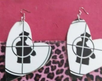 Large public enemy earrings