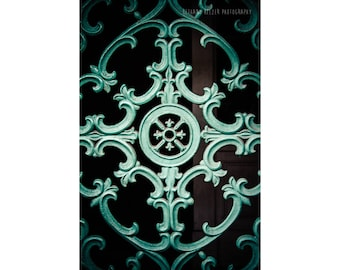 New Orleans French Quarter Photography Door Photography NOLa Art Architecture Photography Teal Wall Art Teal Door Abstract Photography Green