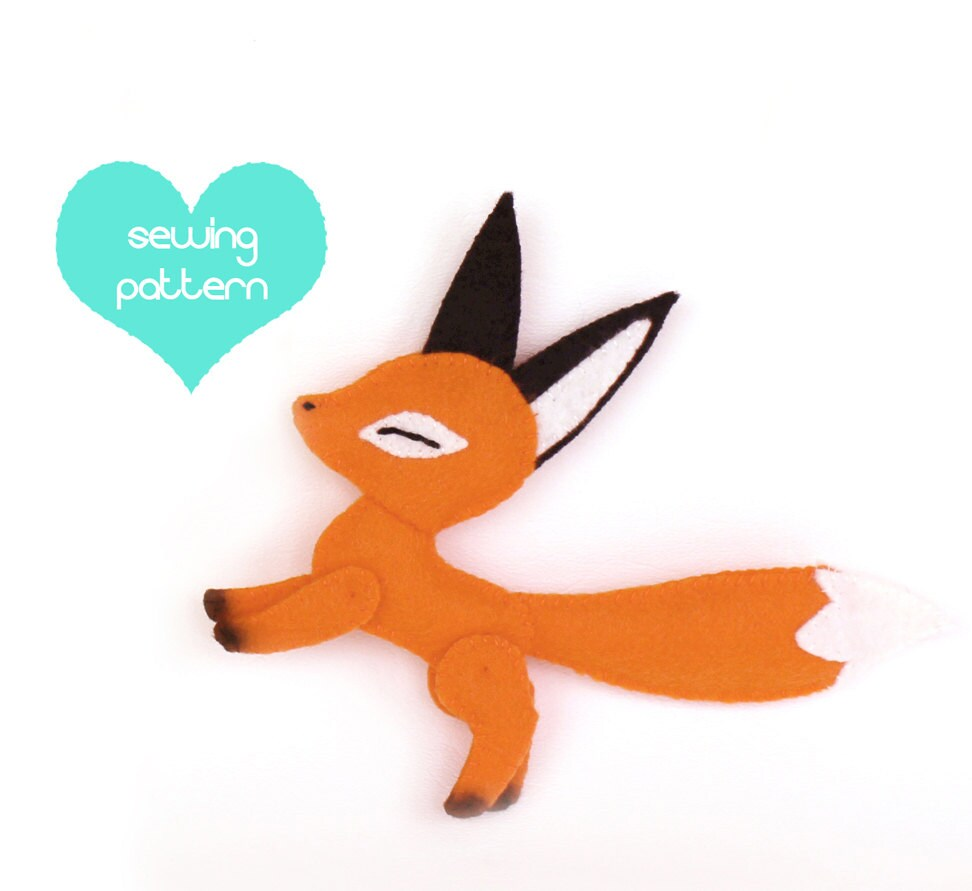 Pdf sewing pattern fox stuffed animal easy beginner felt zoom jeuxipadfo Image collections