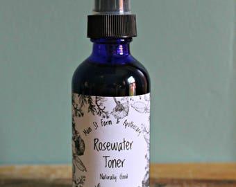 Organic Rosewater Toner | Rose Water Spray | Rose Water Toner | Organic Facial Toner | Rose Toner | Organic Toner