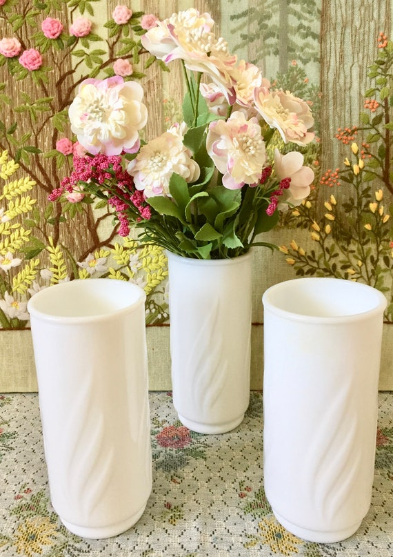 Milk Glass Vase White Vases For Wedding Centerpiece Vases