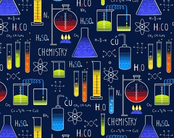 Studio E Geek Chic 3731-77 Science Chemistry Fabric