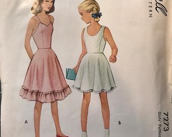 Vintage McCalls Girls Petticoat Slip Pattern Size 8 Chest 26