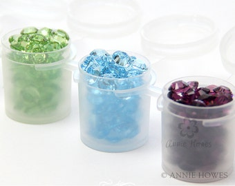 Small Paint Pods. Sampler Jars. Containers for Samples. One paint pot strip of 6 pods.