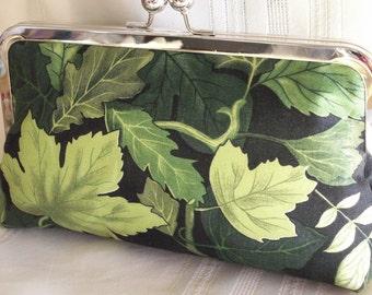 Handmade cotton clutch Shades of green. FOREST SONATA by Lella Rae on Etsy