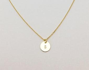 First Circle hand stamped necklace