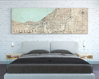 Cleveland map prints Etsy