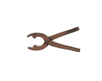 Antique Wood Pliers 1910s Wooden Pliers Antique Wood Tool Old Wood Hand Pliers
