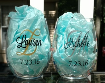21 oz bachelorette party favors, bridal party gifts, wedding party favor, stemless wine glass, party favor, girls weekend, party favor