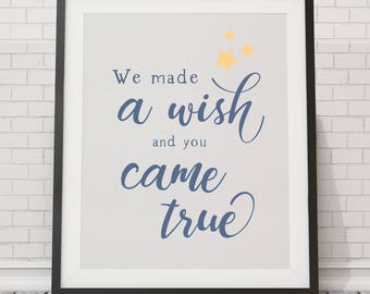 We Made a Wish, and You Came True - Blue - Portrait