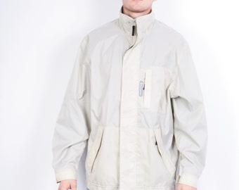 Champion Mens L Jacket Beige Waterproof Nylon Sport
