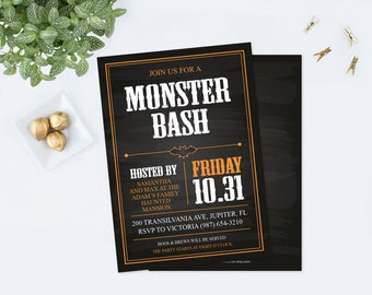 Edit Now Halloween Invite, Halloween Birthday, Halloween Invitation, Halloween Party, Halloween Supplies, Instant Download Printables