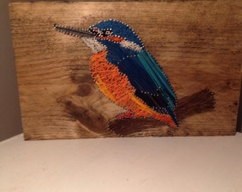 Kingfisher Nail and String Art
