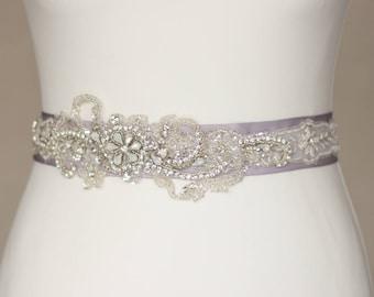 Wedding belt, Bridal belt, Silver, Grey, Gray, Rhinestone belt, Wedding dress belt sash, Crystal Bridal sash, Rhinestone sash, Crystal belt