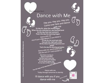 Gray art print sings my fun love song | Valentine gift for him | Printable wall art | gift for men | gift for dancer | personalized gift