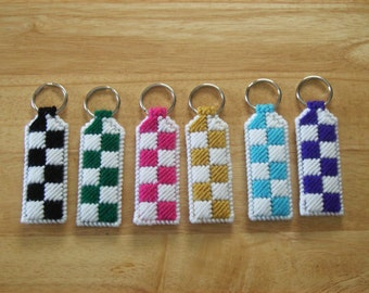 Easter Gift, Keychains for Women, Made to Order,  Car Accessories, Easter Gifts, Teen Boy Gift, Valentine's Day Gift, Checkerboard