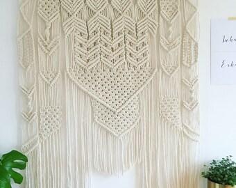 Extra Large Wedding Macrame Wall Hanging | Bohemian Wall Decor | Wall Tapestry | Modern Macrame | Boho | Macrame Tapestry | Wall decor
