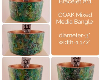 OOAK Art Bracelet #11 - Mixed Media Bangle