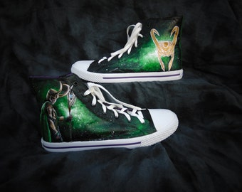 Loki Inspired High Top Converse