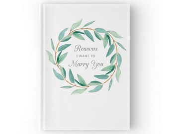 Reasons I Want to Marry You Custom Book, Gift for Groom from Bride, Wedding Proposal Gifts, Wedding Day Gift for Groom, Journal, SKU: WGB002
