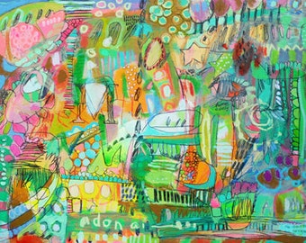 MOM LAUNDRY 2 paper print by Jennifer Mercede 11x14in