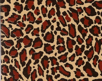 Leopard Oilcloth Fabric By The Yard