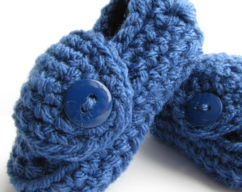Baby Boy Shoes, Royal Blue, Baby Booties, Boys Baby Booties, Crochet Booties, Baby Shoes, Baby Shower Gift, Baby Boy Gift, Baby Boy Clothes