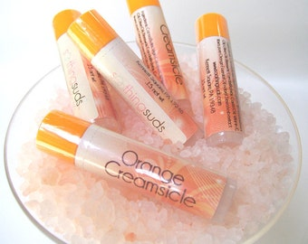 Orange Creamsicle - handmade Beeswax and Lanolin lipbalm by Soothing Suds Soap