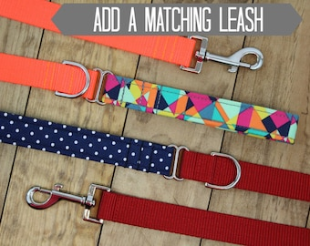 Add a Matching Leash | Your Choice of Any Fabric in the Shop | Utility Dog Leash | Nylon Dog Leash