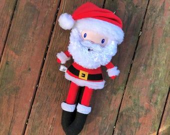 Santa Claus Doll - Santa Plush - Handmade - Santa Claus - Santa Softie - Toy - Stuffed Animal - Decoration - Gift for Kids - Christmas Gift