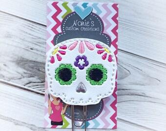 Sugar Skull Paper Clip - Planner Paper Clip - Planner Paperclip - Planner Accessories-Sugar Skull Paperclip-Sugar Skull Feltie - Sugar Skull