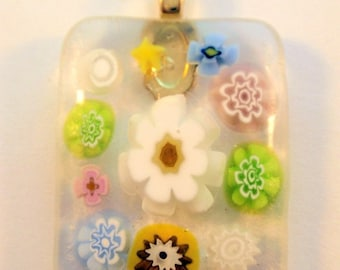 On sale now - 30% On Sale Now Pastel Flower Millefiori Fused Glass Cabochon