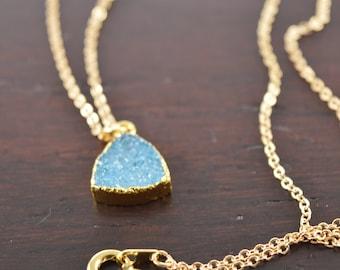Druzy Necklace, Druzy Jewelry, Gold Druzy, Druzy, Drusy, Druzy Necklace