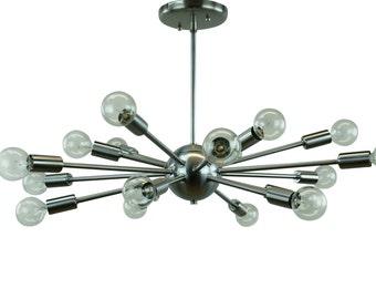 Sputnik Atomic Starburst Chandelier Mid Century Modern Eames