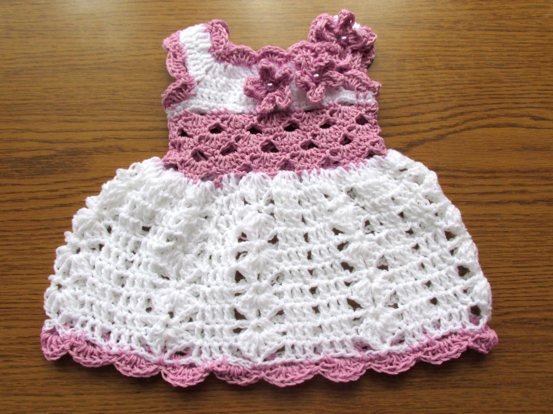 Vestido del bebé Semana Santa vestido del ganchillo de bebé