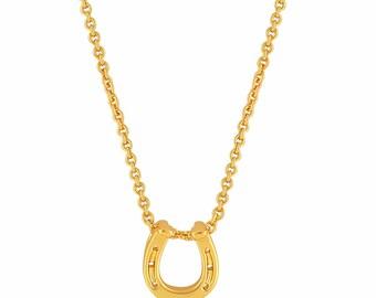 Horseshoe Necklace Gold. Horseshoe Pendant Necklace