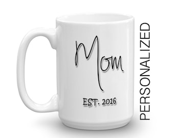 Baby Shower Gift, New Mom, New Parent Gift,Personalized Mug, Ceramic mug, Coffee Mug, Statement Mug Unique Coffee Mug Typography Mug