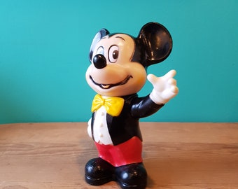 Vintage Mickey Mouse Coin Bank - Made in Hong Kong