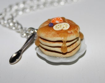 Pancake Necklace - Food Necklace - Kawaii Necklace - Mini Food